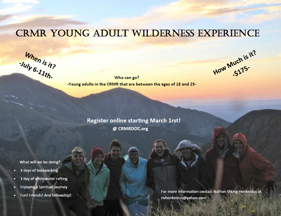 Young Adult Wilderness Experience 2015